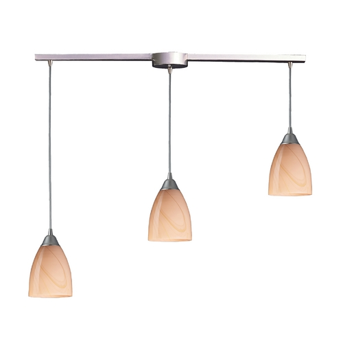 Elk Lighting Modern Multi-Light Pendant Light with Art Glass and 3-Lights 527-3L-SY