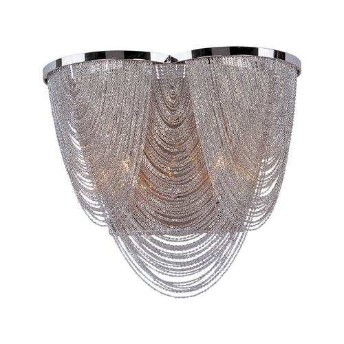 Maxim Lighting Sconce Wall Light in Polished Nickel Finish 21469NKPN
