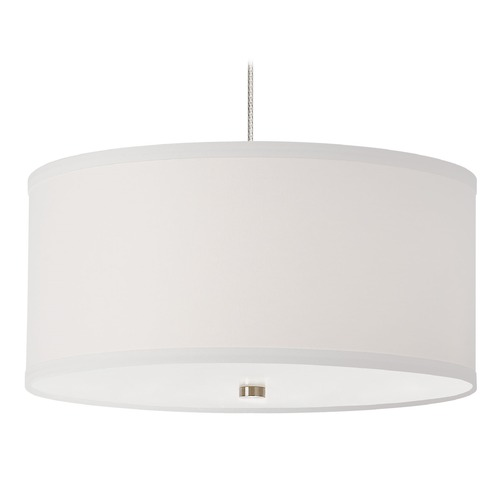 Tech Lighting Satin Nickel Drum Pendant Light by Tech Lighting 700MPMULWS