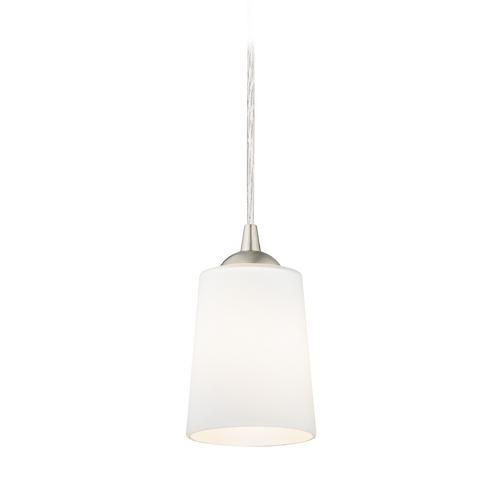 Design Classics Lighting Modern Mini-Pendant Light with Satin White Glass 582-09 GL1027