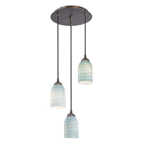 Design Classics Lighting Modern Multi-Light Pendant Light and 3-Lights 583-220 GL1003D
