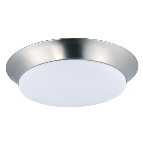 Maxim Lighting Maxim Lighting Profile Ee Satin Nickel LED Flushmount Light 87597WTSN