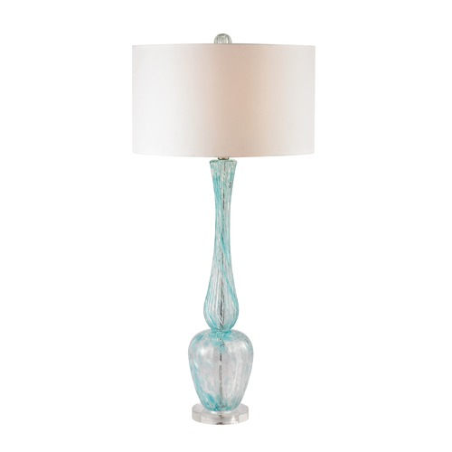 Dimond Lighting Dimond Lighting Light Blue Table Lamp with Drum Shade D2662
