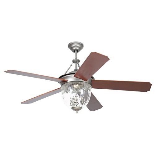 Ellington Fans Ellington Cavalier Pewter Ceiling Fan with Light CAV52PT5LK