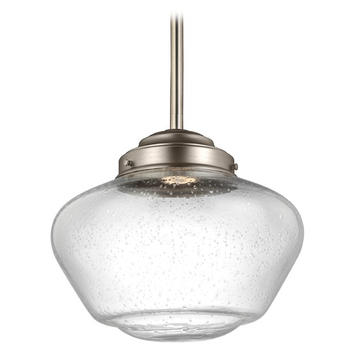 Feiss Lighting Feiss Lighting Alcott Satin Nickel LED Pendant Light P1386SN-LED