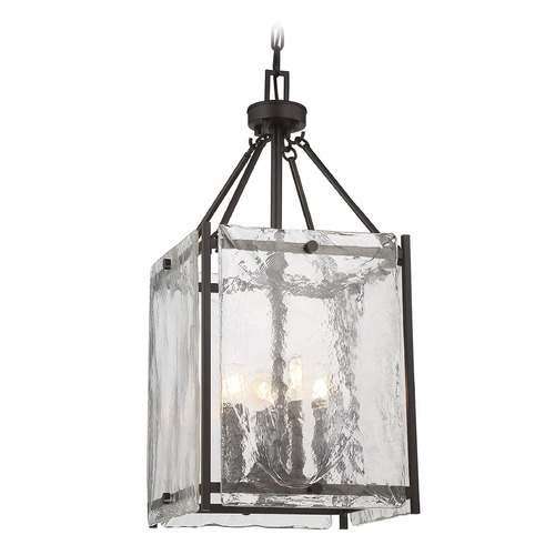 Savoy House Savoy House Lighting Glenwood English Bronze Pendant Light with Square Shade 3-3041-4-13