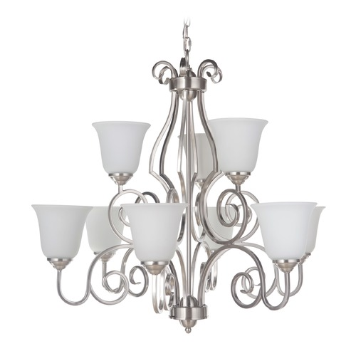 Craftmade Lighting Craftmade Lighting Cecilia Brushed Satin Nickel Chandelier 7131BN9-WG