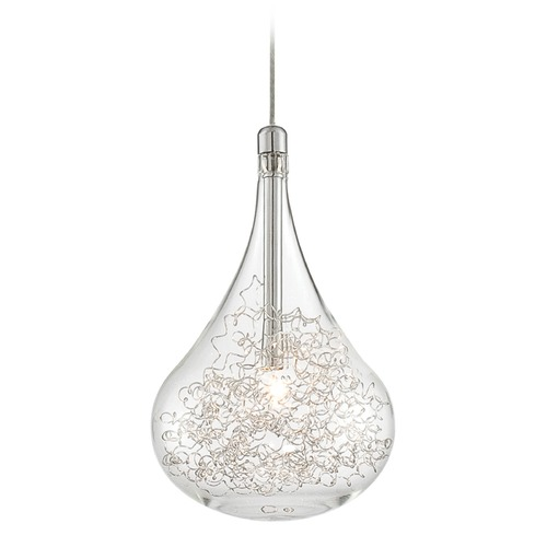 Lite Source Lighting Lite Source Chrome Mini-Pendant Light with Globe Shade LS-19171