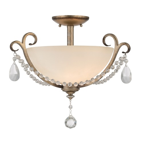 Designers Fountain Lighting Designers Fountain Gala Argent Silver Semi-Flushmount Light 86011-ARS