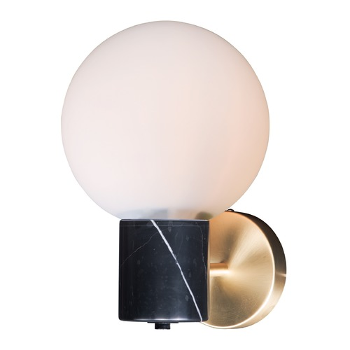 Maxim Lighting Maxim Lighting Vesper Satin Brass / Black Sconce 26030SWSBRBK