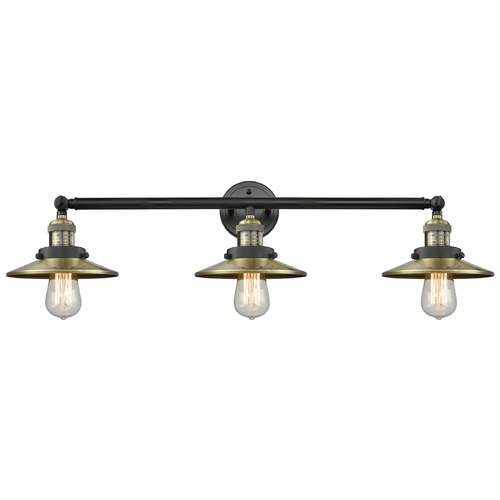 Innovations Lighting Innovations Lighting Railroad Black Antique Brass Bathroom Light 205-BAB-S-M4
