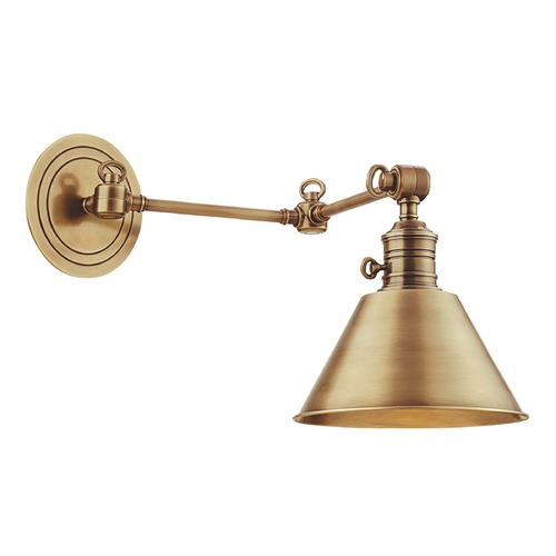 Hudson Valley Lighting Swing Arm Lamp in Aged Brass Finish 8322-AGB