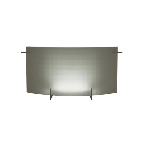 PLC Lighting Modern Sconce Wall Light with White Glass in Polished Chrome Finish 12112 PC