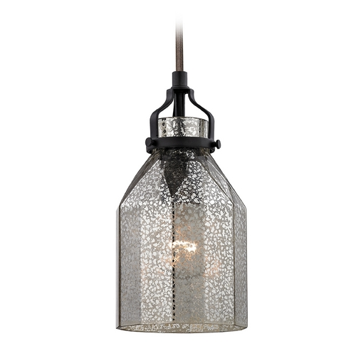 Elk Lighting Mini-Pendant Light with Mercury Glass 46009/1