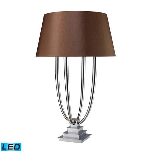 Dimond Lighting Dimond Lighting Chrome LED Table Lamp with Empire Shade D1804-LED