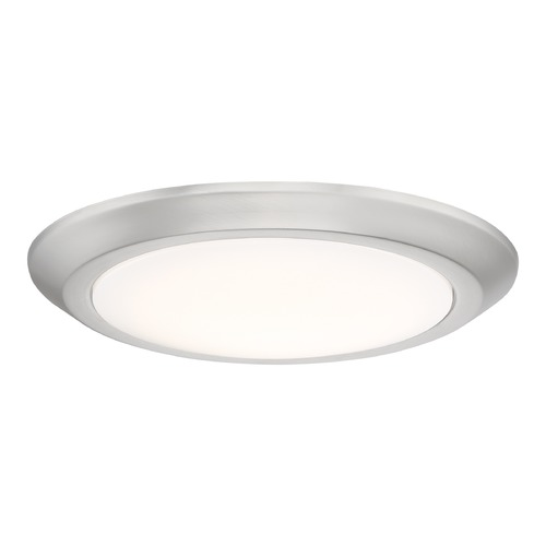 Quoizel Lighting Modern LED Flushmount Light Brushed Nickel Verge by Quoizel Lighting VRG1612BN