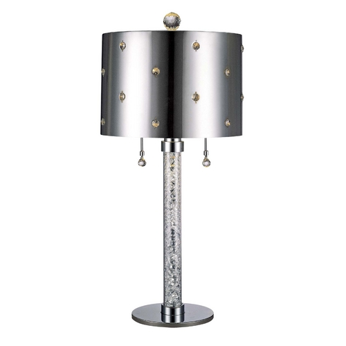 George Kovacs Lighting Modern Table Lamp in Chrome Finish P028-077