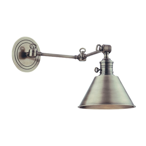 Hudson Valley Lighting Swing Arm Lamp in Antique Nickel Finish 8322-AN