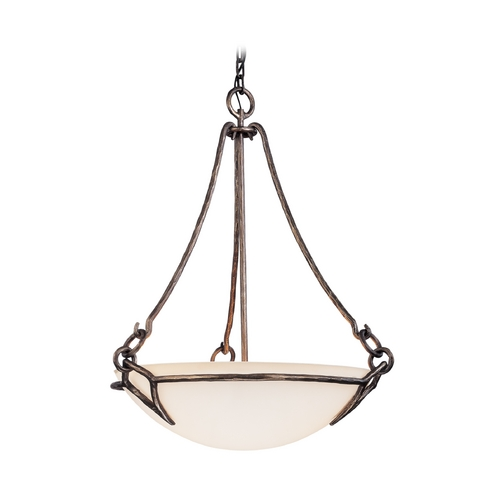 Troy Lighting Pendant Light with White Glass in Pompeii Silver Finish F2673