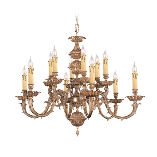 Crystorama Lighting Chandelier in Olde Brass Finish 2412-OB
