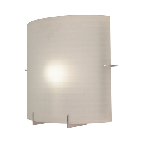 PLC Lighting Modern Sconce Wall Light with White Glass in Polished Chrome Finish 12108 PC
