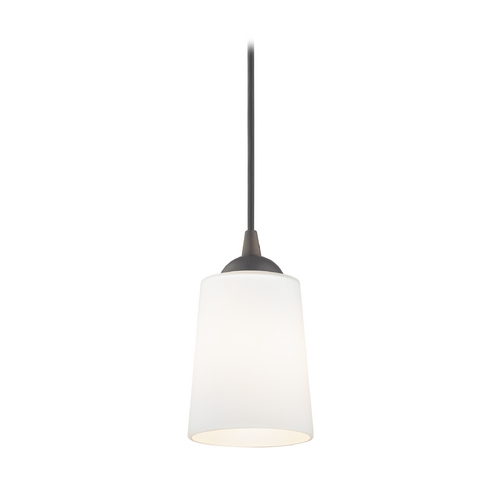 Design Classics Lighting Contemporary Mini-Pendant Light with Satin White Glass 582-220 GL1027