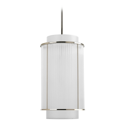 Progress Lighting Progress Crystal Pendant Light in Polished Nickel Finish P3938-104