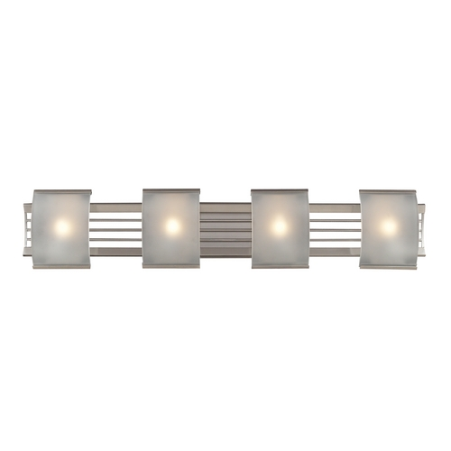 Elk Lighting Modern Bathroom Light in Brushed Nickel Finish 31358/4