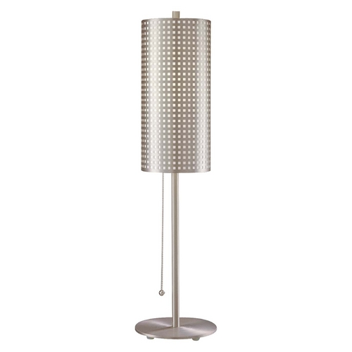 George Kovacs Lighting Modern Table Lamp in Brushed Nickel Finish P5742-084