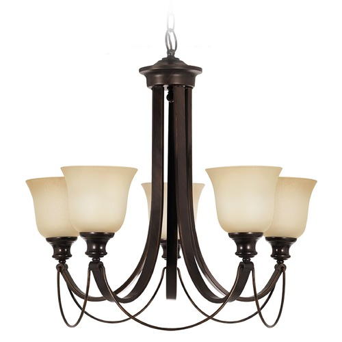 Sea Gull Lighting Sea Gull Lighting Park West Burnt Sienna Chandelier 31497-710