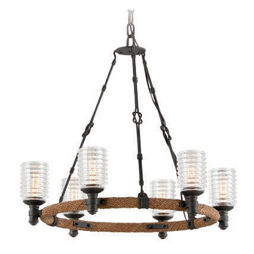 Troy Lighting Troy Lighting Embarcadero Shipyard Bronze Chandelier F4155