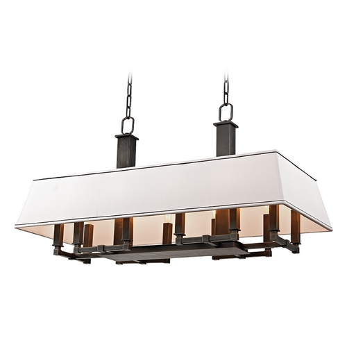 Hudson Valley Lighting Hudson Valley Lighting Kingston Old Bronze Island Light with Rectangle Shade 7038-OB