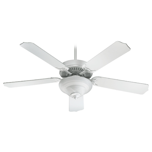 Quorum Lighting Quorum Lighting Capri Iv White Ceiling Fan with Light 77525-2506