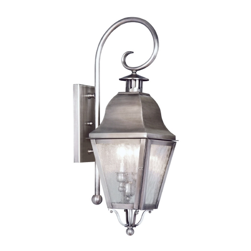 Livex Lighting Livex Lighting Amwell Vintage Pewter Outdoor Wall Light 2551-29