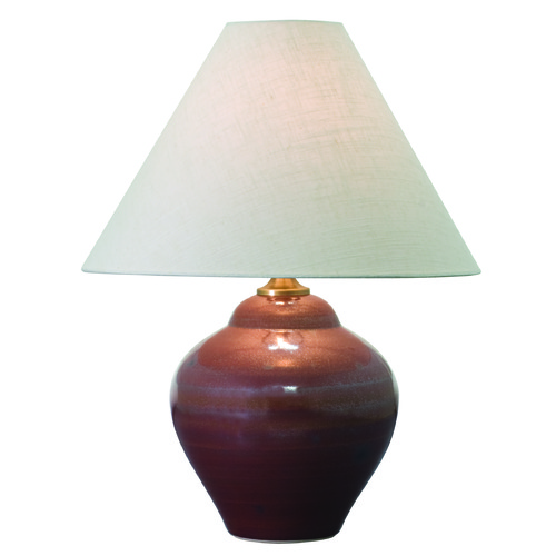 House of Troy Lighting House of Troy Scatchard Iron Red Table Lamp with Conical Shade GS130-IR