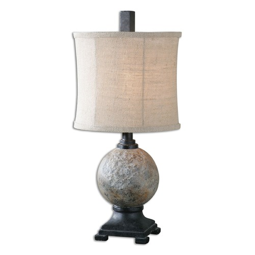 Uttermost Lighting Uttermost Calvene Concrete Ball Table Lamp 29031-1