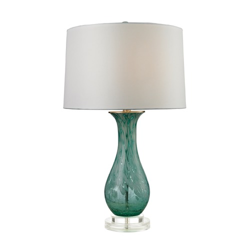 Dimond Lighting Dimond Lighting Aqua Swirl Table Lamp with Drum Shade D2727