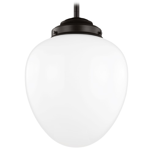 Feiss Lighting Feiss Alcott Oil Rubbed Bronze LED Pendant Light with Oval Shade P1400ORB-LED