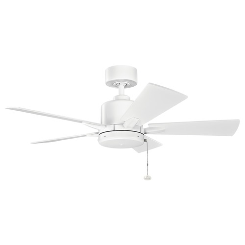 Kichler Lighting Kichler Lighting Bowen Matte White Ceiling Fan Without Light 330241MWH