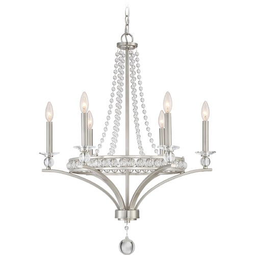 Quoizel Lighting Quoizel Lighting Brightwaters Brushed Nickel Chandelier BWS5006BN