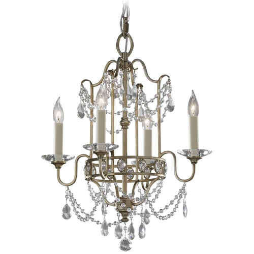 Feiss Lighting Mini-Chandelier in Gilded Silver Finish F2476/4GS