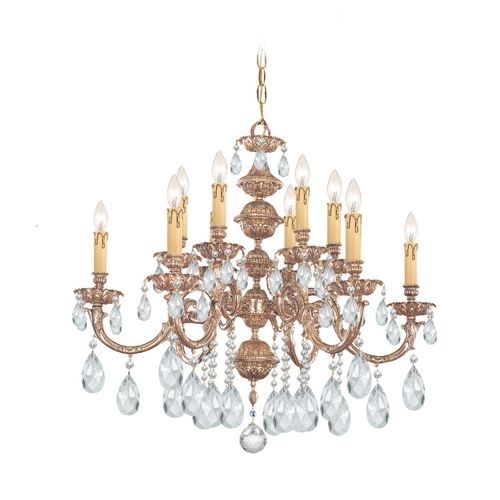 Crystorama Lighting Crystal Chandelier in Olde Brass Finish 2512-OB-CL-MWP