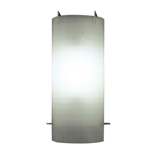 PLC Lighting Modern Sconce Wall Light with White Glass in Polished Chrome Finish 12106 PC