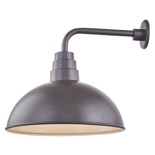 Recesso Lighting by Dolan Designs Bronze Gooseneck Barn Light with 18-Inch Dome Shade BL-ARMD3-BZ/BL-SH18D-BZ