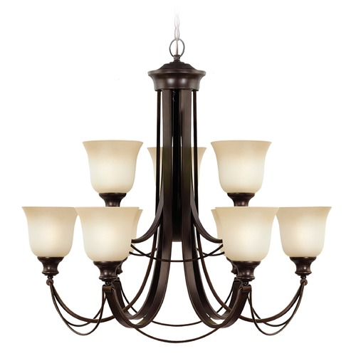 Sea Gull Lighting Sea Gull Lighting Park West Burnt Sienna Chandelier 31498-710