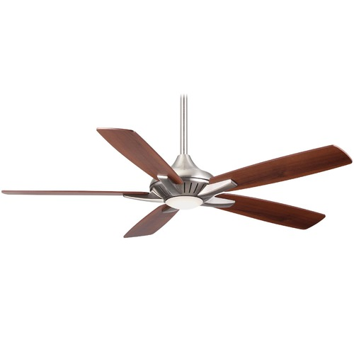 Minka Aire Fans Minka Aire Dyno Brushed Nickel LED Ceiling Fan with Light F1000-BN