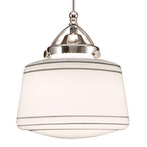 WAC Lighting Wac Lighting Early Electric Collection Chrome LED Mini-Pendant with Drum Shade MP-LED494-SL/CH