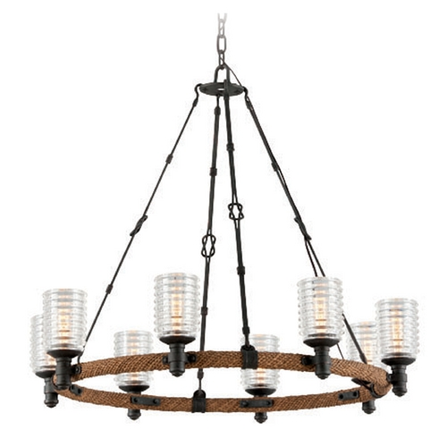 Troy Lighting Troy Lighting Embarcadero Shipyard Bronze Chandelier F4156