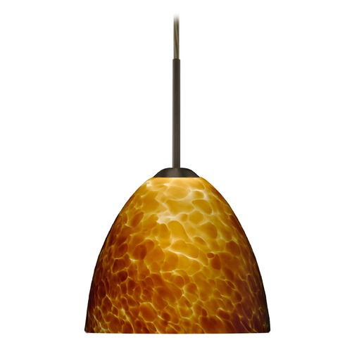 Besa Lighting Besa Lighting Sasha Ii Bronze LED Mini-Pendant Light with Bell Shade 1BT-757218-LED-BR