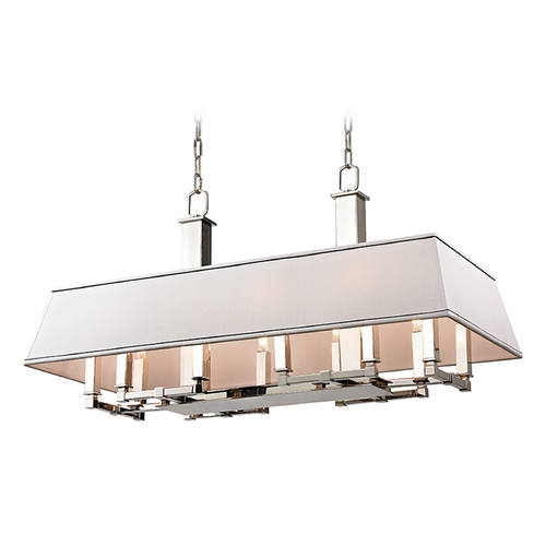 Hudson Valley Lighting Hudson Valley Lighting Kingston Polished Nickel Island Light with Rectangle Shade 7038-PN